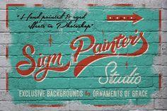 Sign Painter's Studio by Ian Barnard on @creativemarket