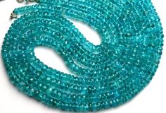 Natural Gemstone Blue Apatite 5 to Facet Rondelle Beads Full Strand Super Fine AAA Quality Transparent Beads Dark Sky Blue Color Semi Precious Gemstones, Natural Gemstones, Dark Skies, Gemstone Beads, Crochet Earrings, Minerals, Blue, Sky, Color