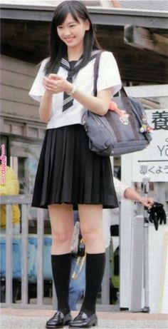 Pin by Mike Brooks on School Uniforms in 2019 School Girl Japan, Japanese School Uniform Girl, Japanese Uniform, School Uniform Outfits, Cute School Uniforms, Girls Uniforms, Kawaii, Beautiful Japanese Girl, Cute Girl Outfits