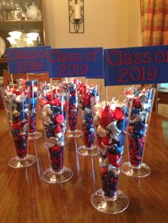 Centerpieces for my daughter's 8th grade graduation party