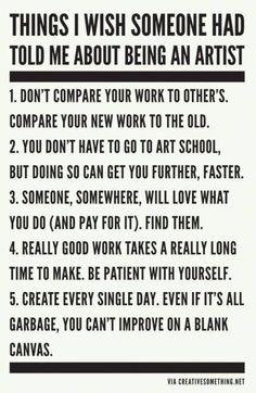 Inspiration and motivation :) The Words, Cassandra Calin, Artist Quotes, Quotes For Artists, Artist Life, Artist Art, Quote Art, Art Classroom, Teaching Art