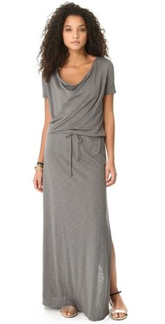 This is the perfect maxi dress to wear during downtime. It is cool and comfortable.