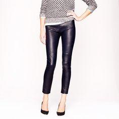 slim fit leather pants - JCrew