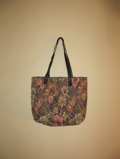 vintage floral tapestry tote http://www.etsy.com/listing/90739549/vintage-floral-tapestry-tote