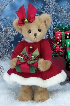 Bearington Bears Proper Presents Christmas Bear $32.95