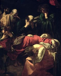 """The Death of the Virgin"" by Caravaggio (C17)."