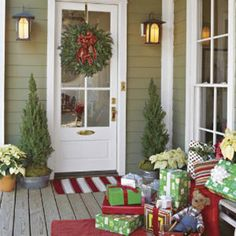 Porch Presents - 60 Beautifully Festive Ways to Decorate Your Porch for Christmas-Southern Living