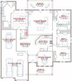 Floor Plan 4 Bedroom, 4 Bedroom House Plans, Duplex House Plans, House Layout Plans, Garage House Plans, New House Plans, Dream House Plans, House Floor Plans, House Roof Design