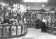 Brightside and Carbrook Co-op Society Ltd., No. 18-20 Page Hall Road, Manager Alf Sparkes in the centre