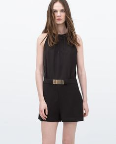 ZARA - WOMAN - GOLD APPLIQUÉ JUMPSUIT Would be even better in a vibrant color.