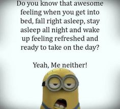 Sleep 。◕‿◕。 See my Despicable Me Minions pins www.pinterest.com...... - Despicable, funny minion quotes, Minions, pins, Quotes, Sleep, wwwpinterestcom - Minion-Quotes.com
