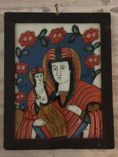 Icoana pe sticla Nicula Arad - imagine 1 Peru, Drawings, Frame, Glass, Painting, Children, Turkey, Picture Frame, Drinkware