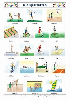 German Sports Flashcards for Kindergarten.  To change the language for the cards you are looking for, please use the language selector at the top-right corner of the page and click one of the flags.