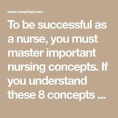 To be successful as a nurse, you must master important nursing concepts. If you understand these 8 concepts you'll be on your way to passing your NCLEX! Nursing Care Plan, Nursing Tips, Ob Nursing, Pediatric Registered Nurse, Lpn Schools, Nursing Schools, Family Nurse Practitioner, Nursing School Notes, Pharmacology Nursing