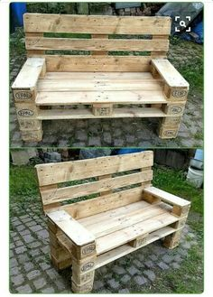 Ideas to Give Wood Pallets Second Life recycled-pallet-outdoor-bench Related posts: Rustic Wood Headboard DIY Ideas 15 Easy DIY Outdoor Firewood Rack Ideas to Keep Your Wood Dry Wood diy desk butcher blocks ideas standard size pallets shipping ideas