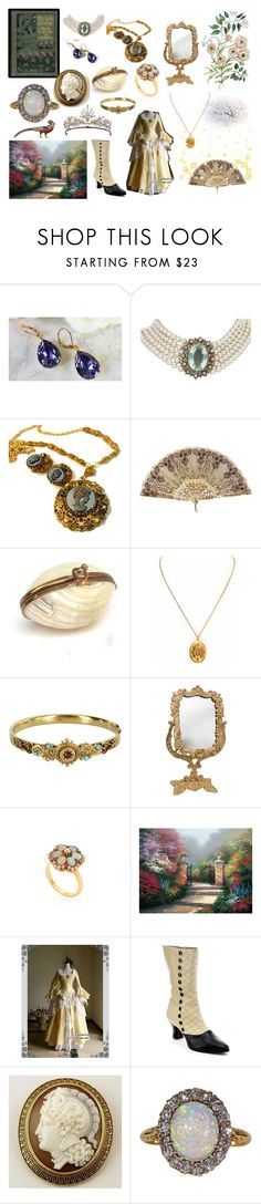 """""""Opulence"""" by riddlebird ❤ liked on Polyvore featuring Vintage, Fred Leighton, Masquerade and Funtasma"""