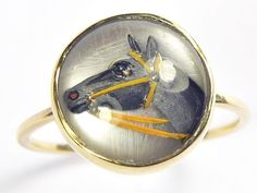 essex crystal ring in Vintage and Antique Jewelry Antique Gold Rings, Antique Jewelry, Horse Ring, Gemstone Rings, Carving, Horses, Gemstones, Crystals, Antiques