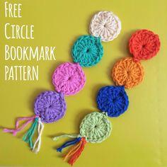FREE Circle Crochet Bookmark pattern-- visit the blog Beautyinthemirror.co.uk