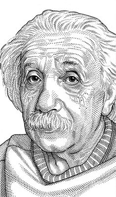 Albert Einstein by Leib Chigrin