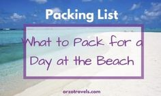 Beach Vacation Packing List -What to Pack for a Day at the Beach. Find a list which includes important beach items - for a perfect time at the beach. Beach Vacation Packing List, Carry On Essentials, Beach Items, International Flights, Destin Beach, What To Pack, Travel Information, Virginia Beach, Travel