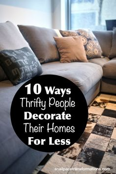 How to save money on home decor items, including accessories and furniture.