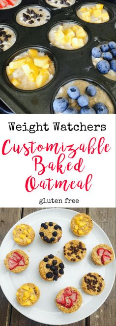 Weight watchers customizable baked oatmeal confessions of a fit foodie 25 weight watchers meals with points freestyle dinner recipes with smartpoints Weight Watchers Oatmeal Recipe, Weight Watchers Muffins, Weight Watchers Breakfast, Weight Watchers Desserts, Weight Watcher Recipes, Weight Watchers Casserole, Weight Watchers Points, 21 Day Fix Breakfast, Breakfast Cups
