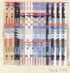 Gunta Stölzl , Wall Hangings and Fabrics, Bauhaus, 1925-1931 Gunta Stölzl's Designs for Jacquard Wall Hangings and Fabrics, Bauhaus Dessau, 1925-1931