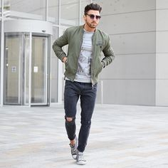 Perfect casual look. Love the hair, the jacket and the pants. Those converse shoes are so achievable