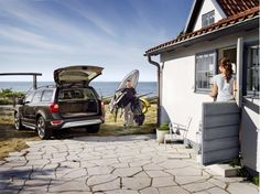 After a long day of surfing and kayaking,  #Volvo makes unloading easy.