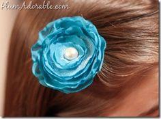 DIY Fabric Flower Hair Clips and Headbands! {SO pretty!} #barrettes
