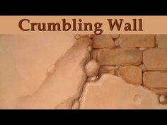 Murals and Trompe l'oeil - Crumbling Wall Effect - YouTube