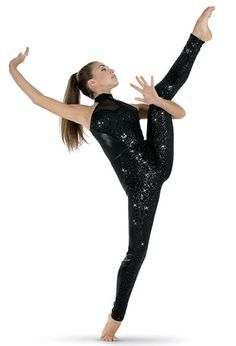 Sequin Metallic Halterneck Long Unitard | Balera™