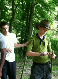 "Dylan is looking at Thomas like,""what the shuck are you doin'?"""