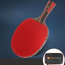 Professional Table Tennis Paddle Ping Pong Racket Soft Sponge Rubber Ergonomic Long Short Handle Table Tennis Ra In 2020 Table Tennis Racket Table Tennis Tennis Racket