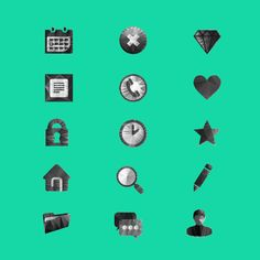 Free polygon icons set for UI & more on Behance
