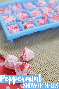 Create these easy peppermint shower melts with essential oils for a relaxing at home spa experience!