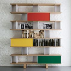 The Nuage Family for Cassina by Charlotte Perriand 3 Wall Shelving Units, Shelving Design, Bookcase Shelves, Shelf Design, Le Corbusier, Eames, Charlotte Perriand, Lounge Chair, Mid Century Modern Furniture