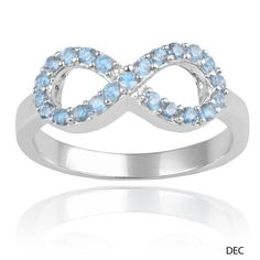 Journee Collection Sterling Silver Cubic Zirconia Birthstone Infinity Ring (