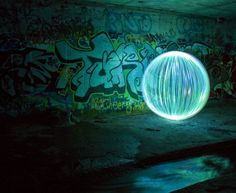 Giant Spheres Created with Light Painting Orb Light, Light Art, Art After Dark, Light Painting Photography, Aboriginal Artists, Desert Art, Ball Lights, No Photoshop, Urban Art