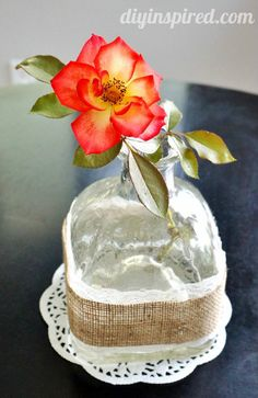 Recycled Patron Bottle Vase