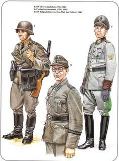 German SD Polizei units WW2