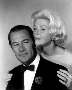 B'day celebrant Rex Harrison and Doris Day in publicity photo for Midnight Lace (1960)