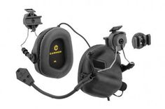 OPSMEN Tactical Earmor M32H Electronic Headphones for FAST Helmets ( Black )