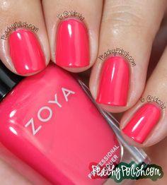 Zoya Yana - Peachy Polish Nail Polish Blog, Pink Nail Polish, Pink Nails, Nail Nail, Nail Polishes, Gel Nails, Sassy Nails, Cute Nails, Pretty Nails