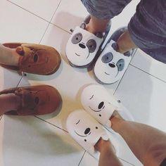 Choses Cool, Pijamas Women, We Bare Bears Wallpapers, Cute Slippers, We Bear, Bear Wallpaper, Disney Wallpaper, Mein Style, Fashion Mode