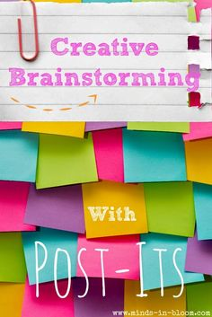 Creative Brainstorming with Post-Its | Minds in Bloom