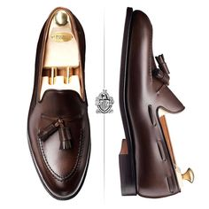Timeless elegance the iconic Crockett & Jones loafer Cavendish, made from dark brown Burnished Calf and single leather soles.At Skyvalrtshoes.com