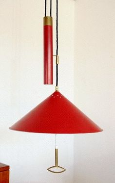 Stilnovo hanging lamp in red.