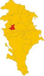 Posizione del comune di Ferla nella provincia di Siracusa