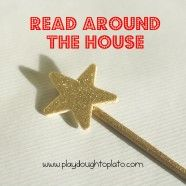 Inspire children to read words they recognize by giving them a magic reading wand.